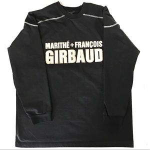 Distressed Girbaud XL Embroidered Spell Out Shirt